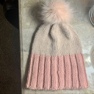 Apt. 9 women's chunky knit pink ombre hat beanie
